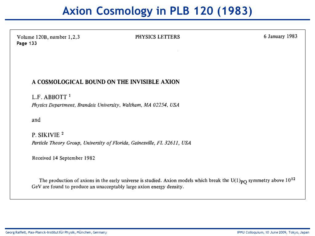 Axion Cosmology in PLB 120 (1983)