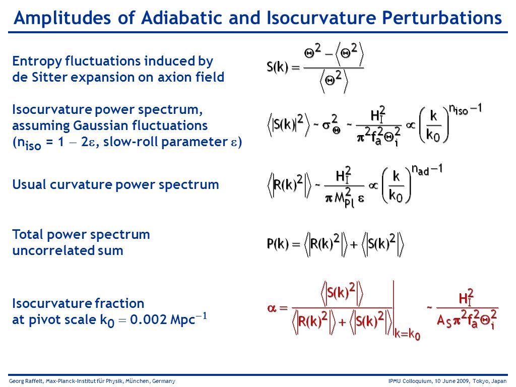 Amplitudes of Adiabatic and Isocurvature Perturbations