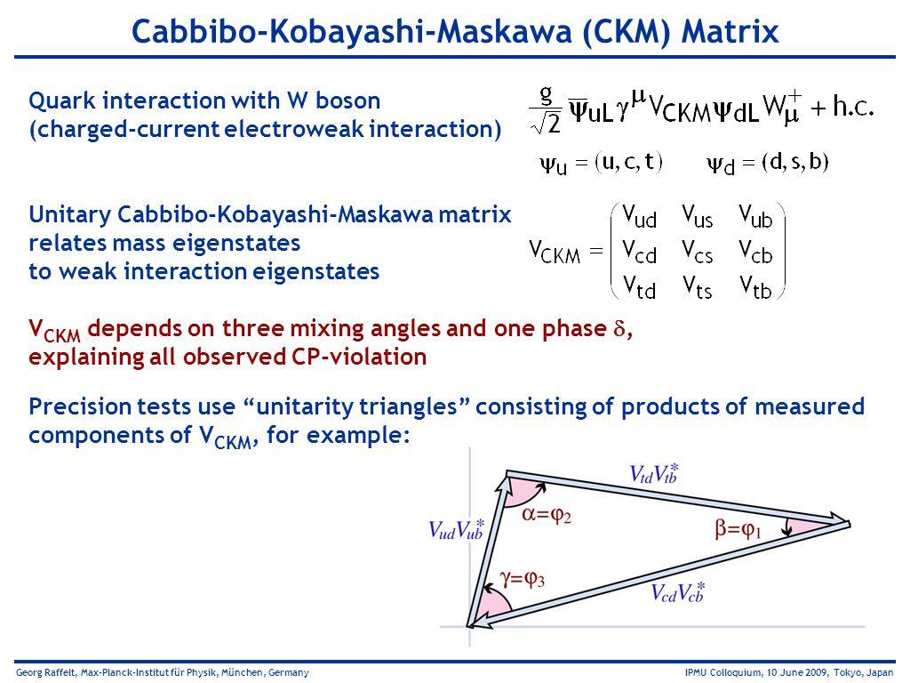 Cabbibo-Kobayashi-Maskawa (CKM) Matrix
