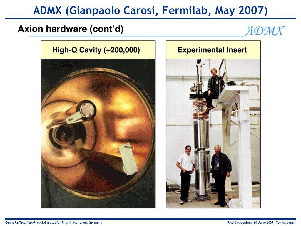 ADMX (Gianpaolo Carosi, Fermilab, May 2007)