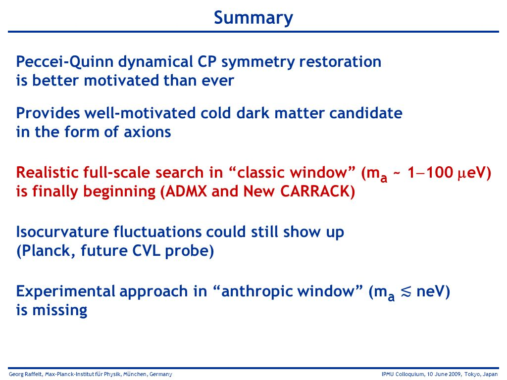 Summary Peccei-Quinn dynamical CP symmetry restoration