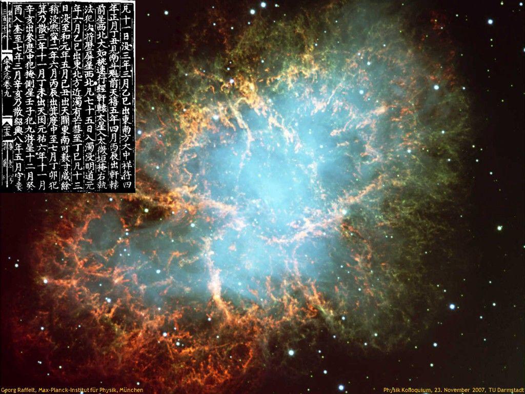 Crab Nebula Georg Raffelt, Max-Planck-Institut für Physik, München