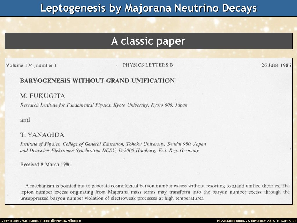 Leptogenesis by Majorana Neutrino Decays
