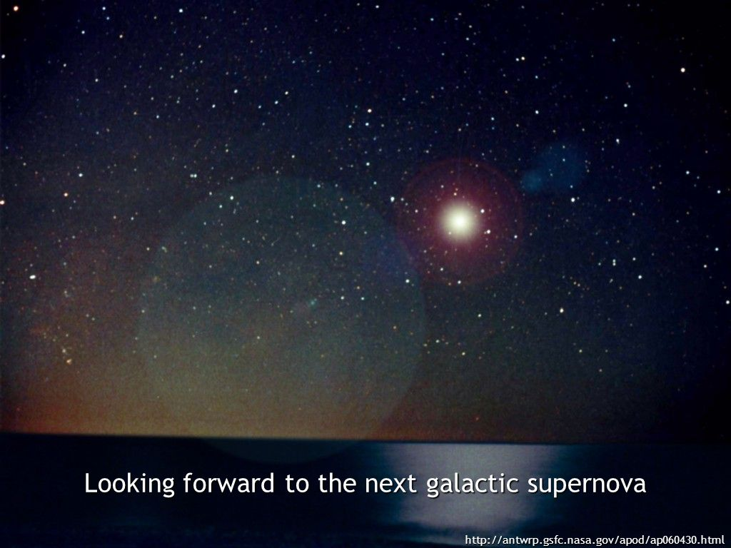 Looking forward to the next galactic supernova