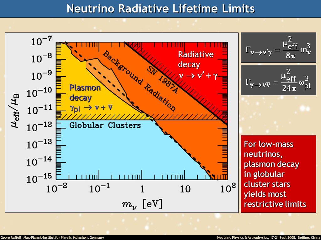 Neutrino Radiative Lifetime Limits