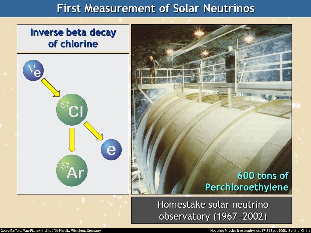 First Measurement of Solar Neutrinos