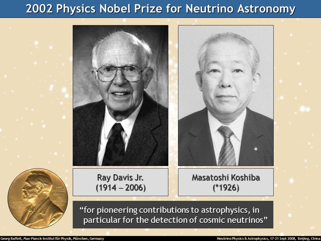 2002 Physics Nobel Prize for Neutrino Astronomy
