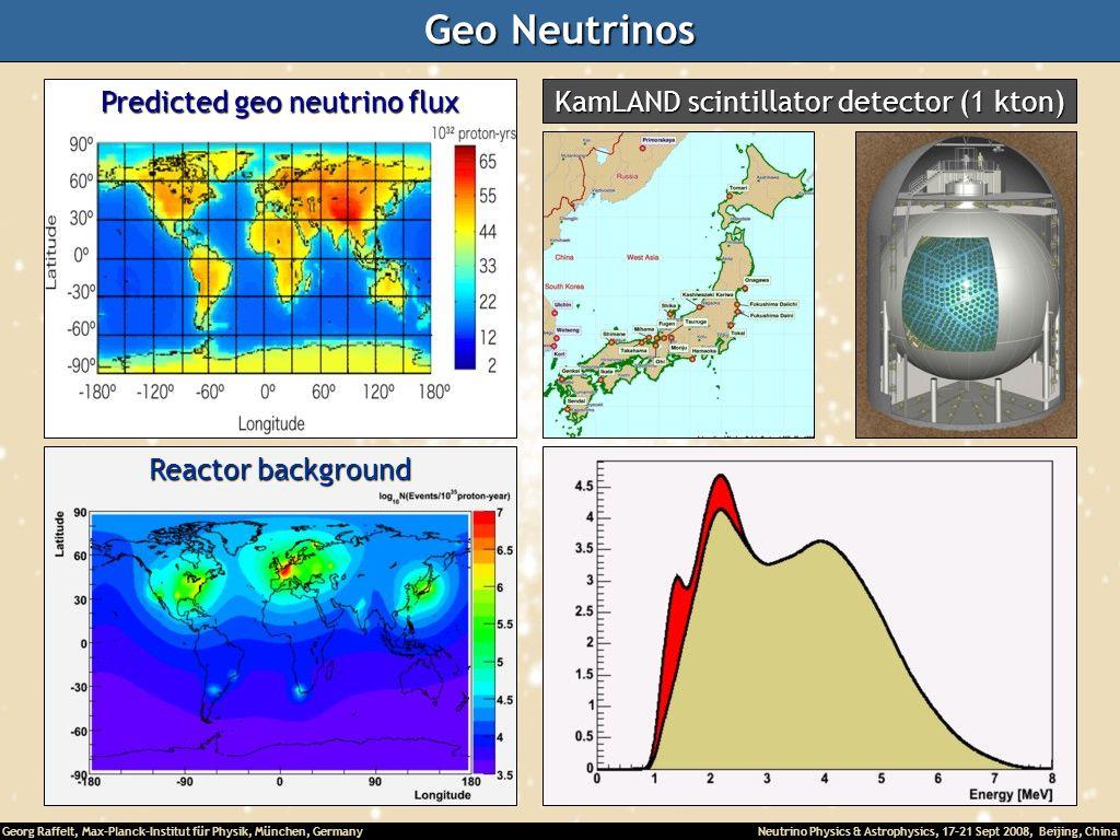 Geo Neutrinos Predicted geo neutrino flux