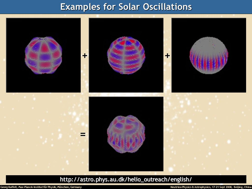 Examples for Solar Oscillations