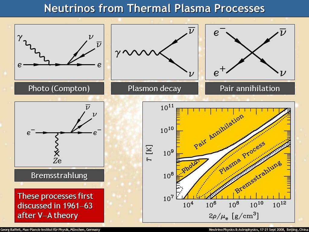 Neutrinos from Thermal Plasma Processes