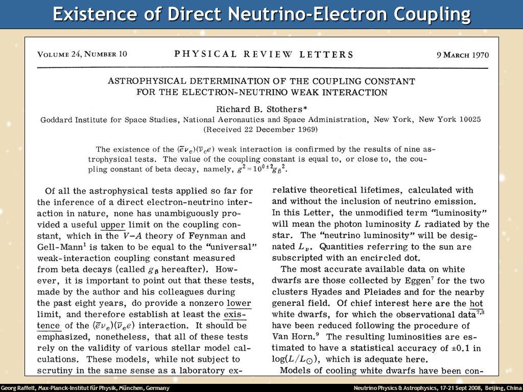 Existence of Direct Neutrino-Electron Coupling
