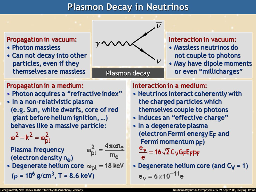 Plasmon Decay in Neutrinos