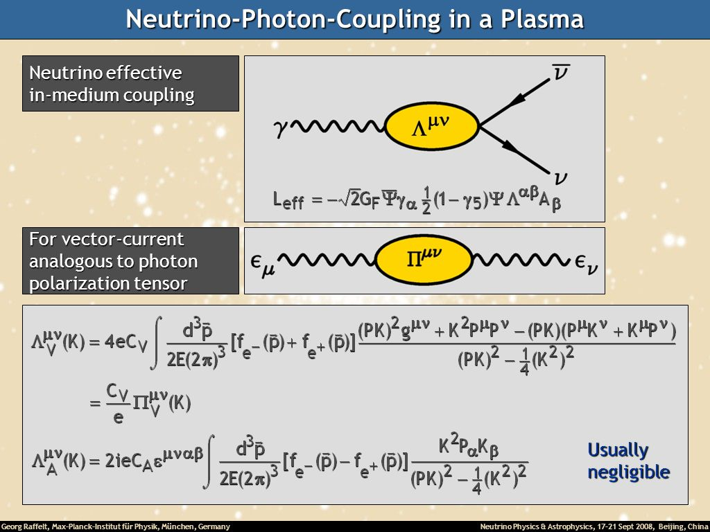 Neutrino-Photon-Coupling in a Plasma