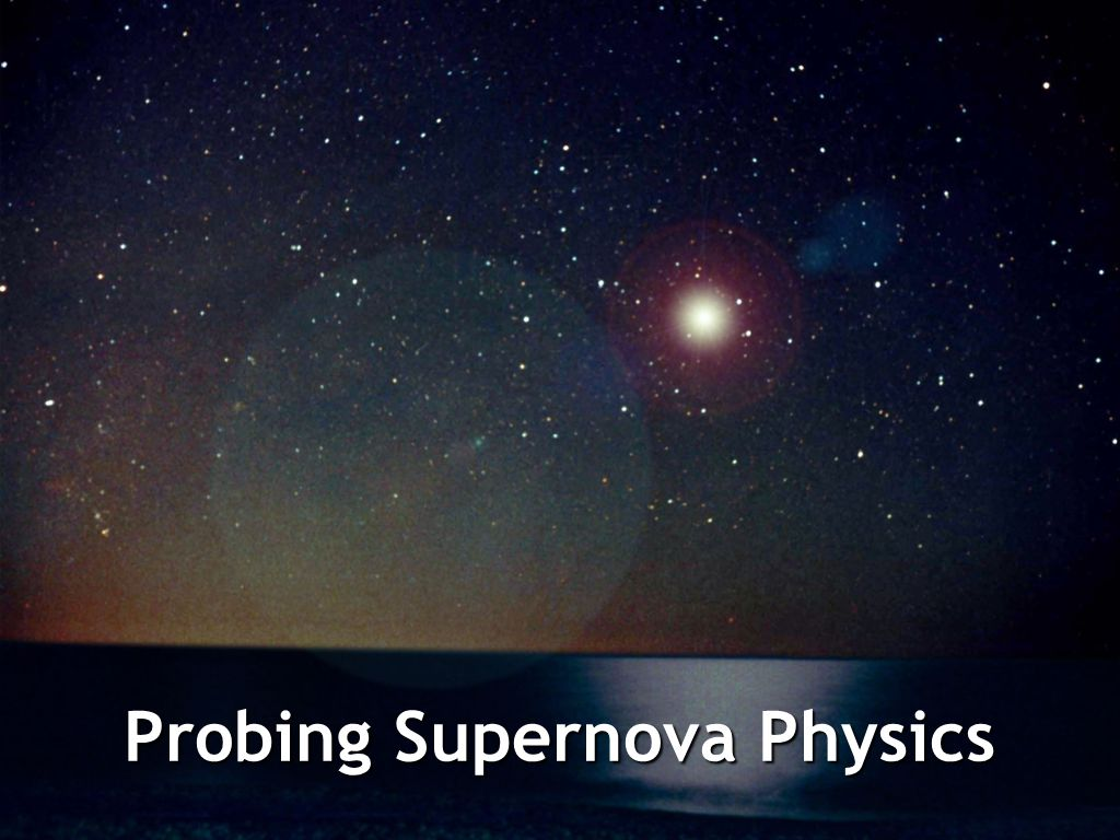 Probing Supernova Physics