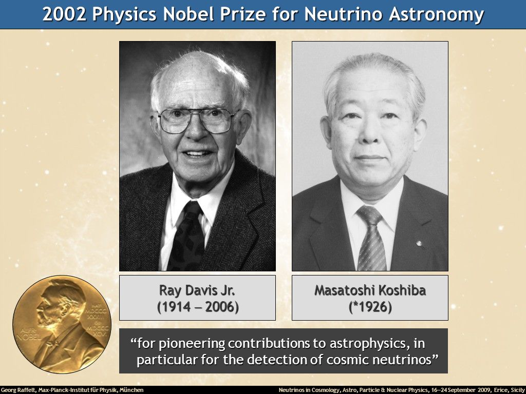2002 Physics Nobel Prize for Neutrino Astronomy