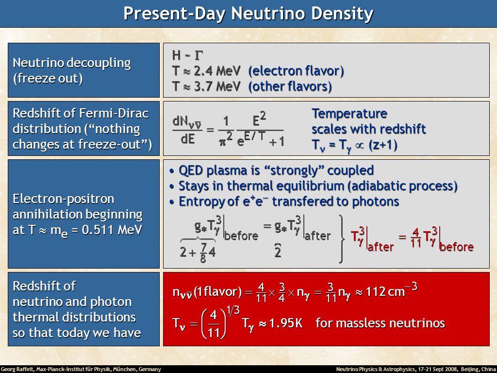 Present-Day Neutrino Density