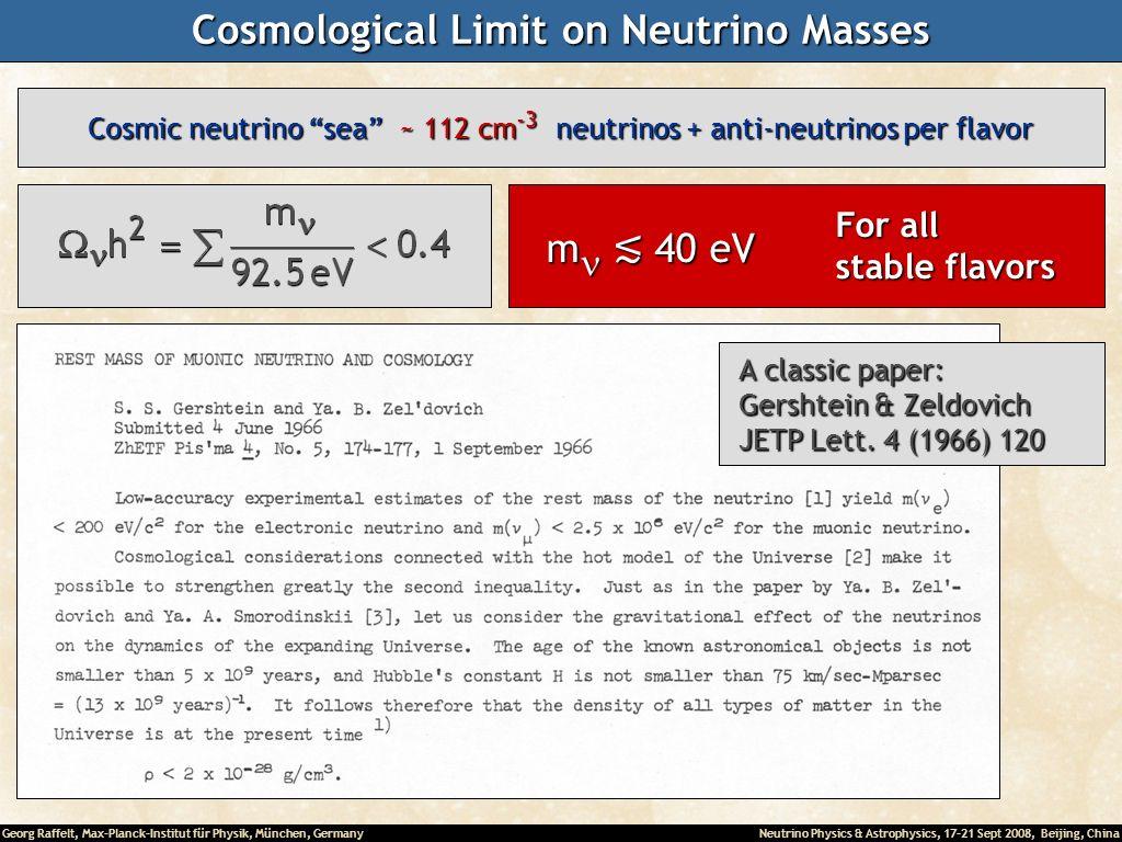 Cosmological Limit on Neutrino Masses