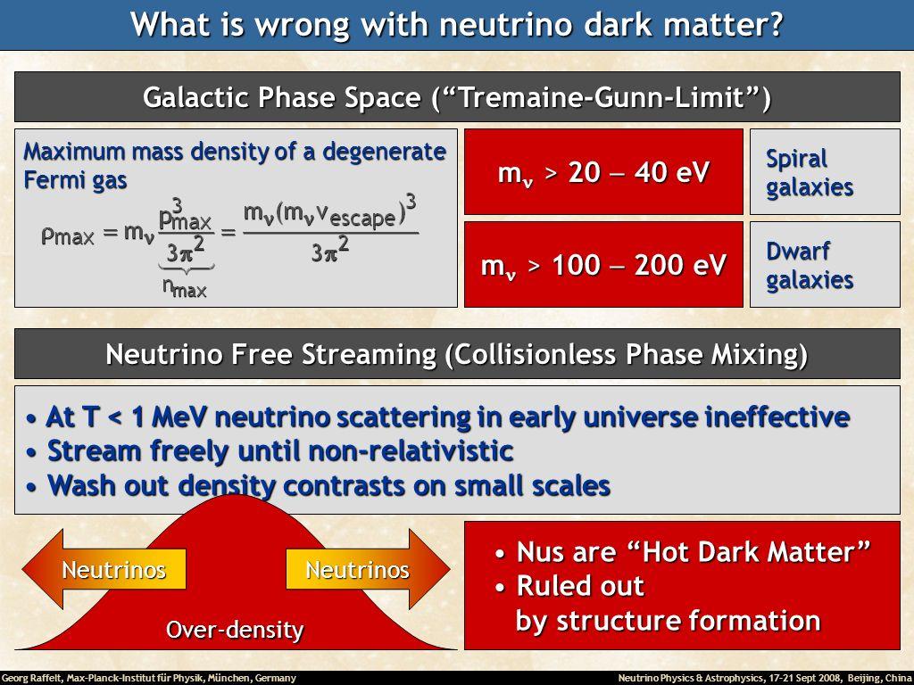 What is wrong with neutrino dark matter
