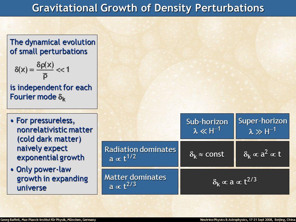 Gravitational Growth of Density Perturbations