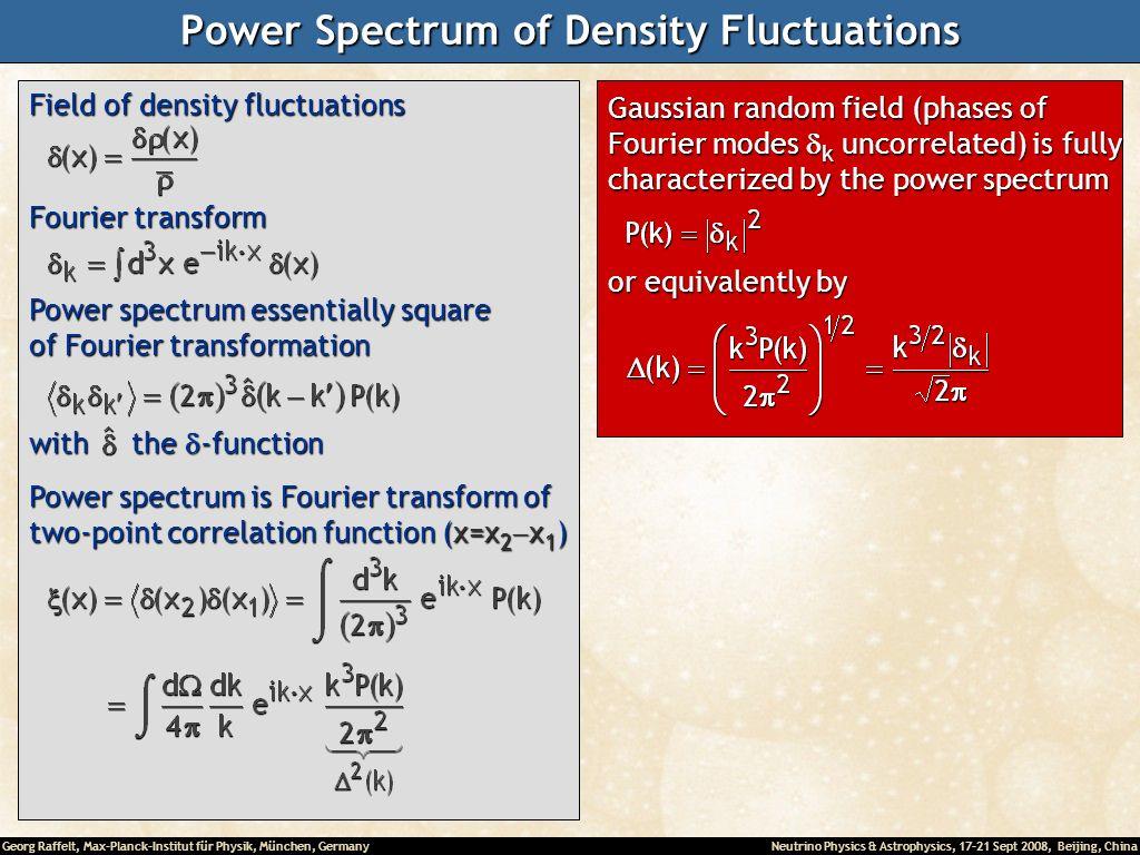Power Spectrum of Density Fluctuations