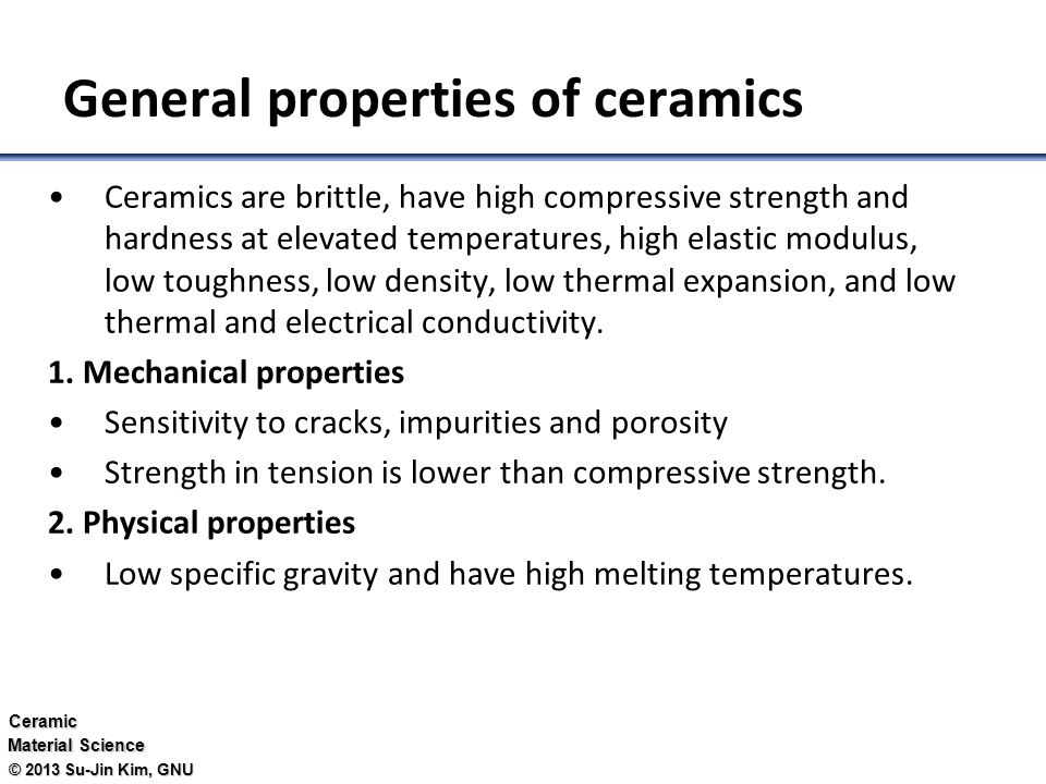 Ceramics 세라믹 Ociate Professor Su Jin Kim Ppt Video
