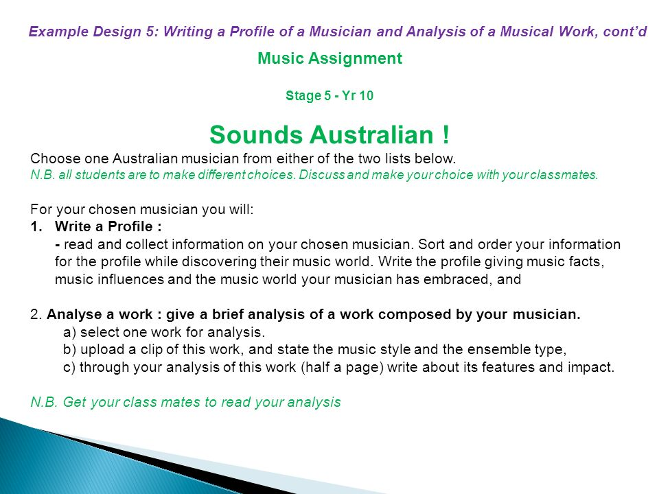 folk music assignment To complete this assignment you must choose a listening selection from section 1: (any of the classes from unity and variety up to and including folk music.