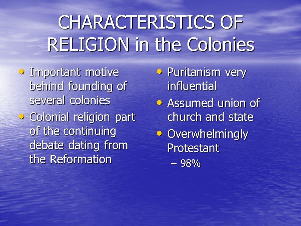 characteristics of religion 1