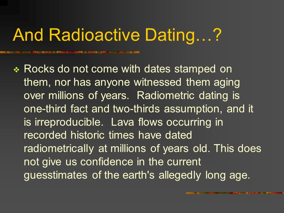 Carbon dating difficulties in marriage