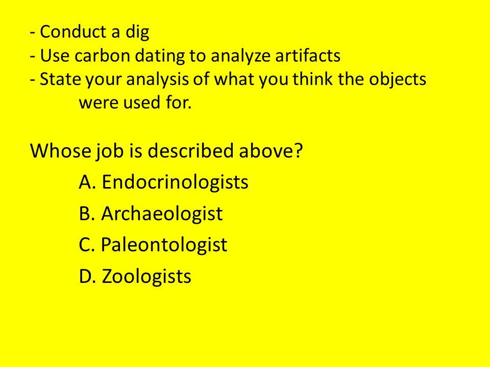 Radiocarbon dating jobs