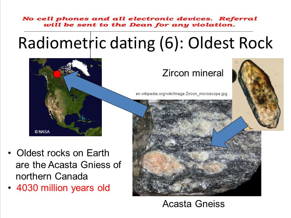 Radiometric Hookup Of The Oldest Rocks Found On Earth