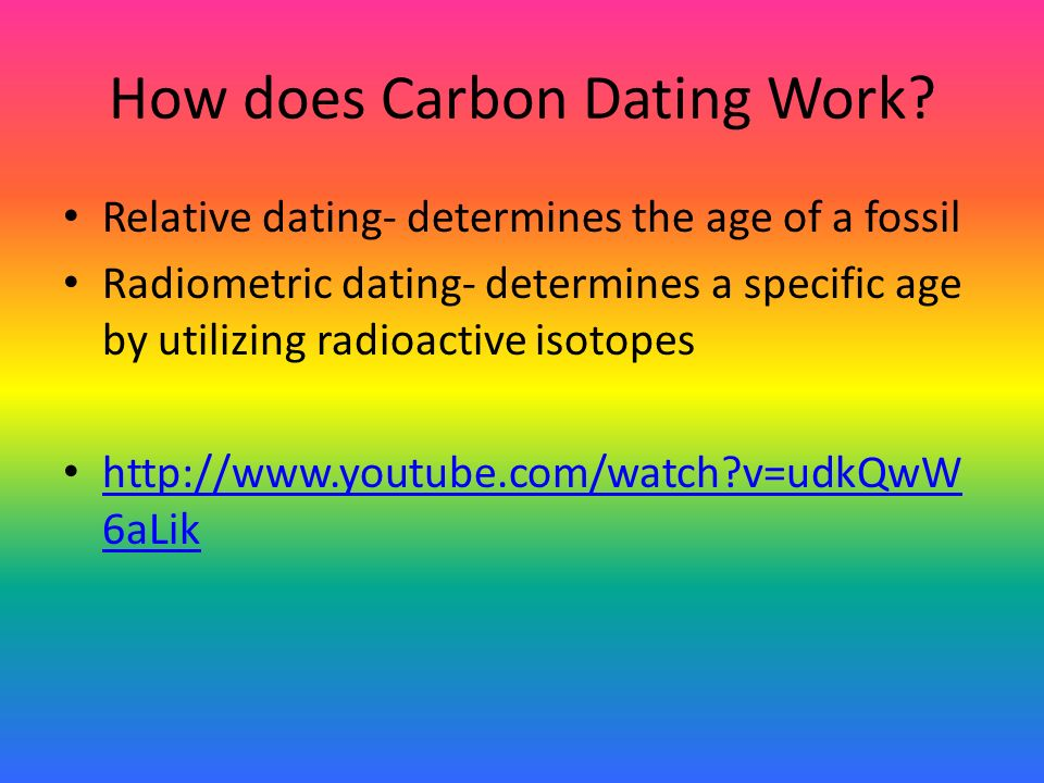 How does relative dating work