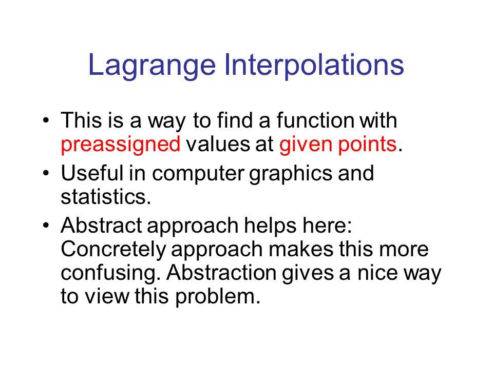 Lagrange Interpolations