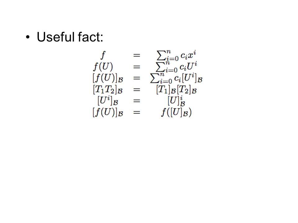 Useful fact: