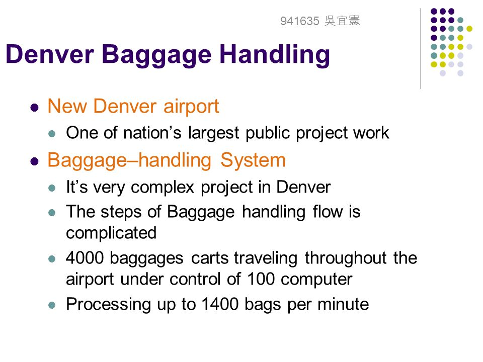 denver baggage system Den airport - denver airport ( denver , co )  baggage claim terminals  construction work is to modify the current baggage handling system with a new baggage.