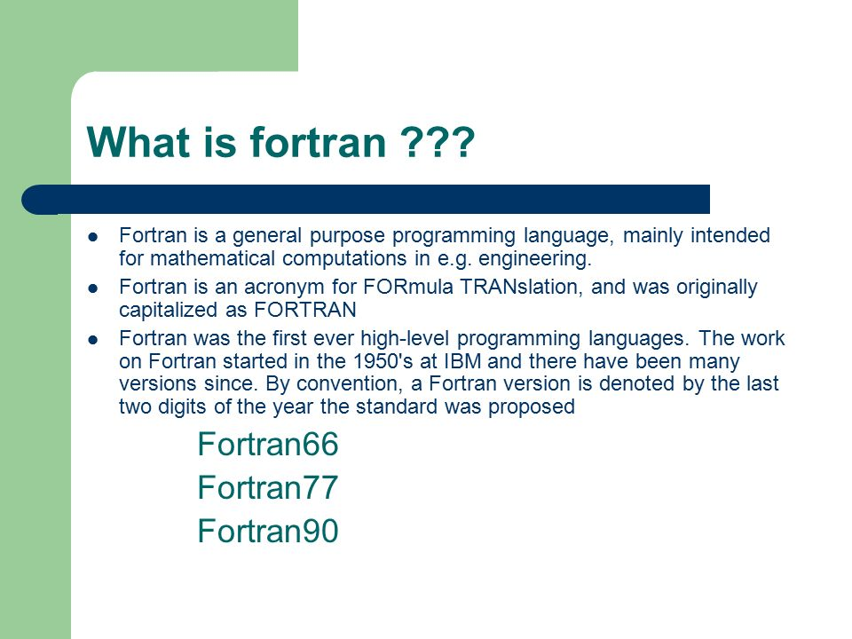 An analysis of fortran the oldest computer programming language