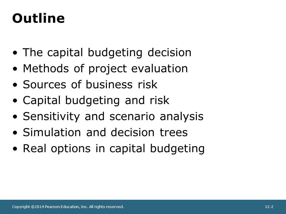 Chapter 12 Capital Budgeting and Risk - ppt video online download
