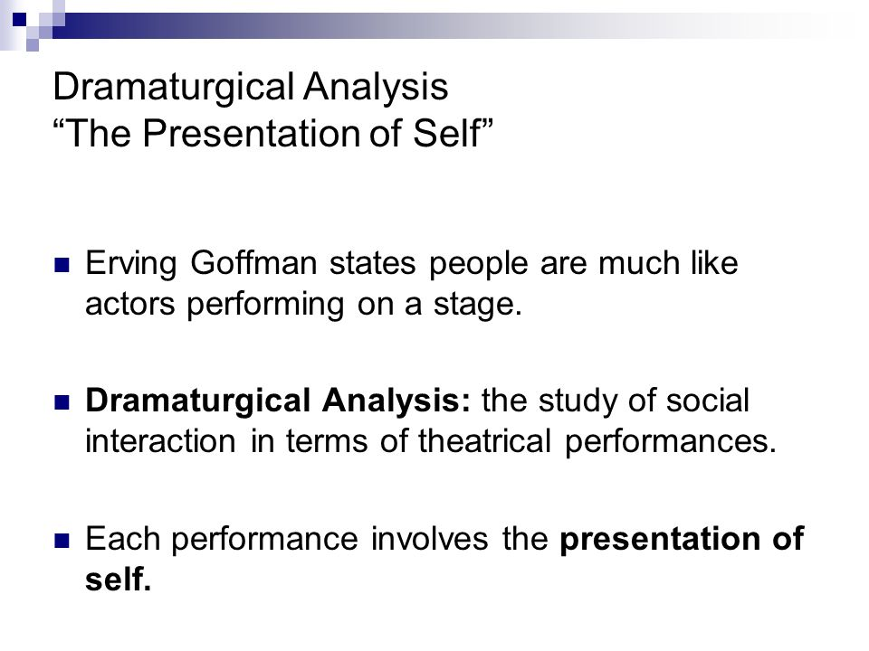 an analysis of erving goffmans the presentation of self in everyday life If you are searching for a book by erving goffman the presentation of self in everyday life in pdf format, then you have come on to loyal website.