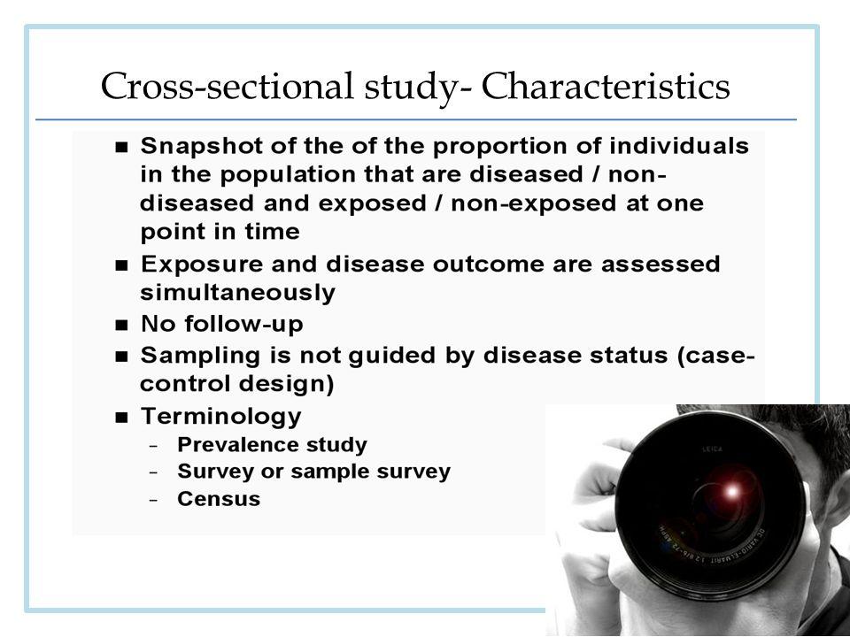 7 Cross Sectional Study Characteristics