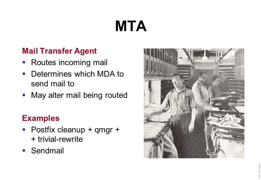 MTA Mail Transfer Agent Routes incoming mail