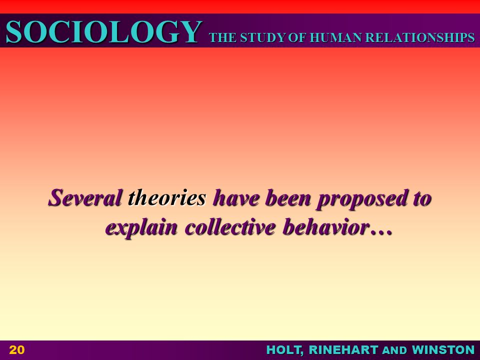 collective behavior theories Recent research from cognitive social science reveals that early collective behavior theorists had more right than we tend to credit this may come as a surprise given the rejection of early theories by the emergence of the social movements field and the coinciding rationalist turn.