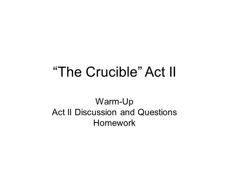 act ii crucible essay question