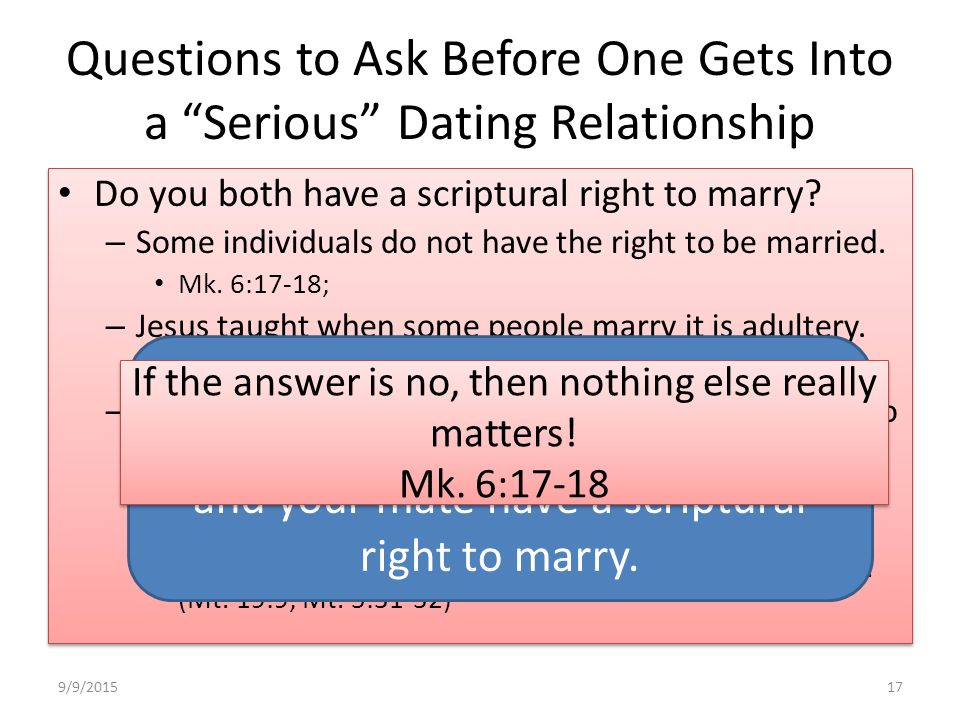 Miss relationship questions before dating domination society