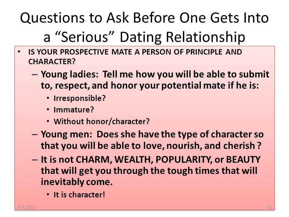 Questions to ask guys before dating
