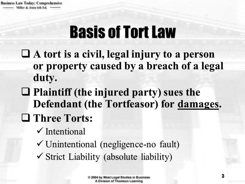 cyber torts Torts is the field of law governing liability for injuries caused by conduct that violates standards of care determined by courts because the relevant care standards generally are not specified in contracts, or by criminal statutes, tort law is at the core of the common law process.