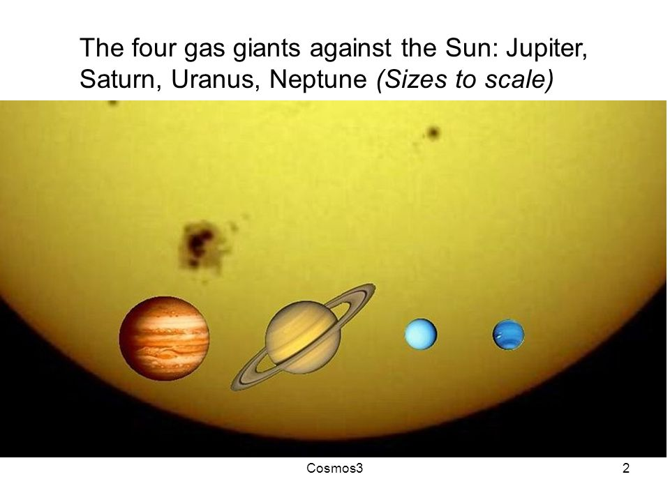 Space, time & Cosmos Lecture 3: Solar system - outer ...
