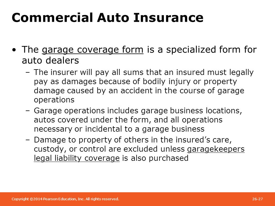 Chapter 26 Commercial Liability Insurance - ppt video online download