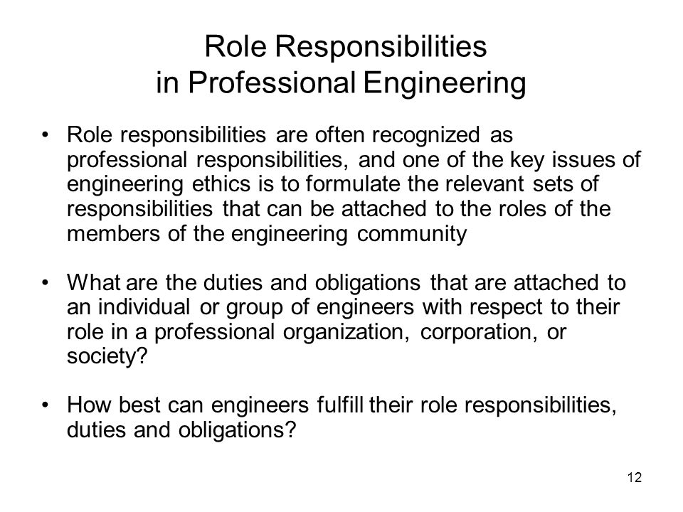 The Duties and Responsibilities of a Chemical Engineer