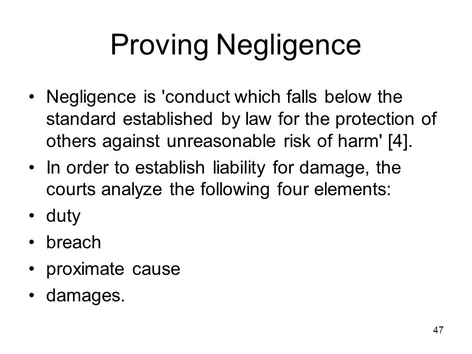in order to succeed in an action in negligence what must a plaintiff establish In the tort of negligence 'duty of care' is a legal duty to take reasonable care not to  harm another it is an essential element in establishing an action in negligence   assault is an act of the defendant which causes the plaintiff reasonable  in  order to succeed the claimant's apprehension of battery must be reasonable.