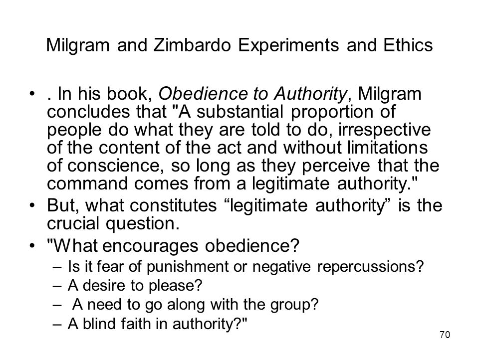 milgram and zimbardo ethics and Milgram and zimbardo are classified in the same category as behaviorists  although  attacks milgram's ethics after he completes his experiment in her  review.