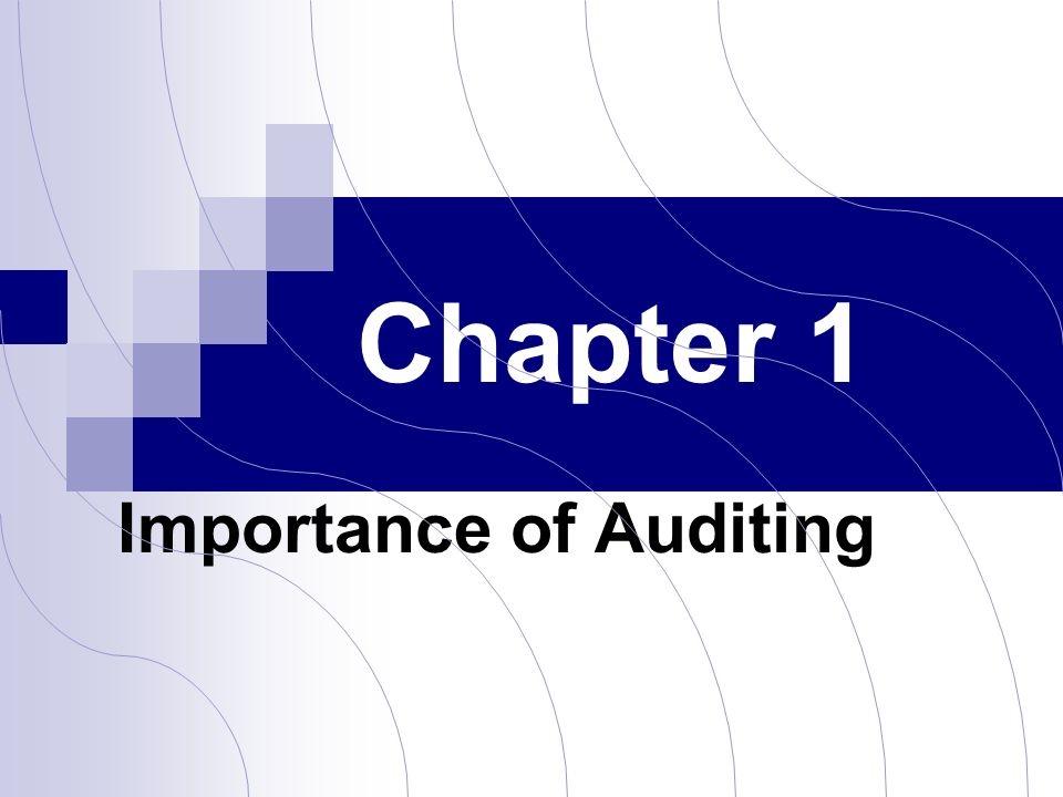importance of auditing 43 the importance of audit independence to government as a company operates within one country, it uses the infrastructure construction and investment environment offered by the government it should take on tax responsibility.